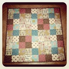 Simple patchwork quilt for baby gift.  This nice blogger figured out all the mathematics.  Although, I need more fabric...