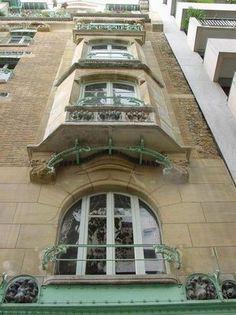 14 Rue La Fontaine (16e) - Le Castel Béranger - Art Nouveau - Architecte : Hector Guimard