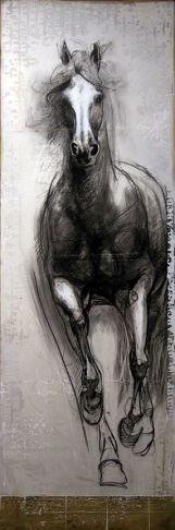 """""""Pur sang""""  by #artist Léa Rivière at #Galerie Saint-Dizier #Montreal #Canada"""