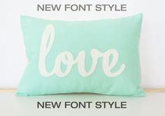 Custom Love Pillow  You Choose The Color by HoneyPieDesign on Etsy, $42.00