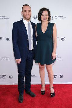 Pin for Later: Suite et fin du festival du film de Tribeca !  Charlie McDowell et Elisabeth Moss ont présenté leur film The One I Love.