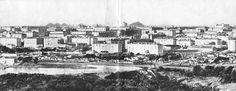 Панорама улицы набережной. Еще видны одноэтажные постройки. Донецк, 1962 год<br>Нажмите на фото для увеличения