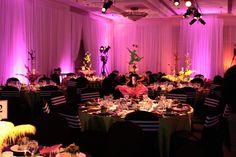 Arbutus Ballroom - drapped in white | Cirque du Soleil theme | Delta Victoria, BC