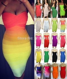 17 Best images about Bandage dresses on Pinterest | Sexy, Rainbow