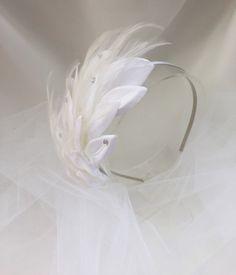 Feather Headpiece Art Deco Headpiece Feather by BridalAndBeyond
