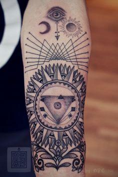 Sol & Luna - #InkMX #Tattoo #Tatuajes