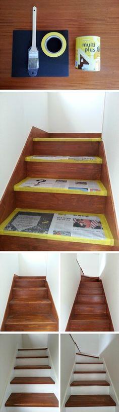 계단 페인트 칠하기:)
