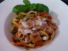 Verboten gut ⚠: Champignonnudeln mit Tomaten ~ Ricotta ~ Sauce