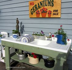 Every time I see someone make a gardening table out of an old sink, I kick myself for not rescuing the one out of my old house before it was torn down. Love this!