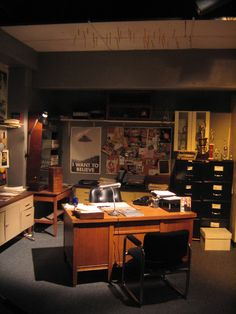 Fox Mulder's office from The X-Files. Ha, pencils in the ceiling! Yep, am a pro at that, myself...