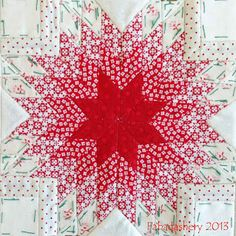 Amazing block wld make a great one block quilt - Block 43, Nearly Insane Quilt Fabadashery
