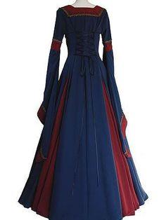Vintage Medieval Flare Sleeves Maxi Dresses – Dress Home Maxi Dress With Sleeves, Floral Maxi Dress, Boho Dress, Maxi Dresses, Dress Lace, Medieval Dress, Medieval Clothing, Renaissance Dresses, Renaissance Fashion