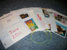 How to make your own vacation memory scrapbook.