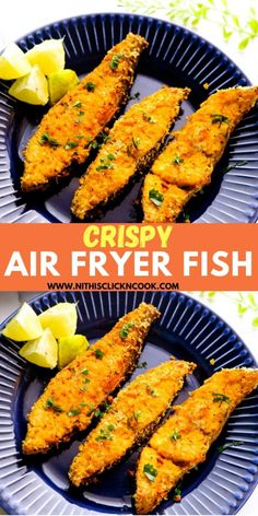Crispy Air Fryer Fish Fillet recipe - The fishes are delicately rubbed with paprika, lemon juice, pepper powder seasonings and coated with panko bread crumbs to make the crunchier air fryer fish that you can make in less than 20 minutes! #airfryerfish #fishfilletrecipe #bestairfryerforfish Basa Fillet Recipes, Grouper Recipes, Snapper Recipes, Cod Fish Recipes, Fried Fish Recipes, Garlic Chicken Recipes, Fish Recipe Panko, Air Fry Fish Recipe, Air Fryer Dinner Recipes
