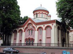 St. Paraskeva Church, Vilnius:  Major-General Abram Petrovich Gannibal, African great-grandfather of Alexander Pushkin, was baptised here.