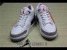 590b20eff45d0f Authentic Air Jordan 3 Retro 88 White With Black Nike Logo On The Back