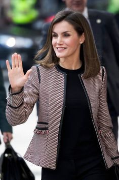 Queen Letizia of Spain attends a seminar on the informative treatment of disability in social networks on April 5, 2018, in Madrid, Spain...
