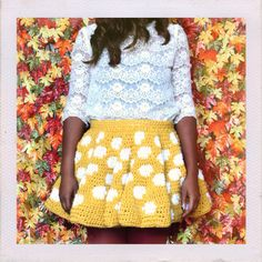 Handmade graphic crochet skirt // dream crochet