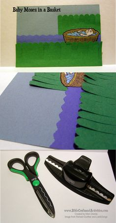 Baby Moses Paper Craft www.BibleCraftsandActivities.com