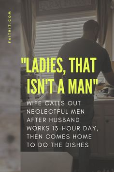 "I see so many women cry and complain that their partner doesn't help with the kids, bills, housework, give them any attention, etc and my heart breaks when I hear ""oh that's men, or I just deal with it and suffer."" Ladies that isn't a man. #man #husband #findaman #marriage #marriagegoals"