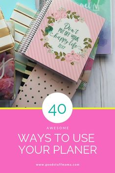 40 really good ways to put your planner to use. This is a good read for beginner planning readers as well as planners who have too many planners :) Planner Tips, Goals Planner, Planner Pages, Life Planner, Printable Planner, Happy Planner, Printables, Planner Inserts, Best Planners