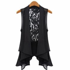 New Arrival 2017 Blusas Casual Lace V-neck Floral Sleeveless Frill Top Chiffon