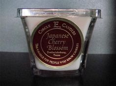 NEW CIRCLE E CANDLE JAPANESE CHERRY BLOSSOM 5 OZ JAR DISCOVERY FLARE EXOTIC #CircleE