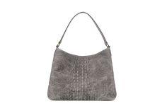 No. 303 matt crocco leather large hobo bag. By Nowińska