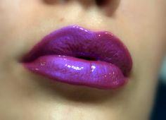 Holographic PurpleBlue Lipgloss  Wild Plum by FierceMagenta, $9.69