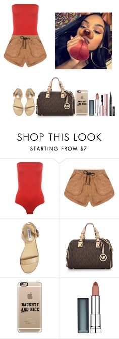"""""""-Dolly"""" by theflawless-doll on Polyvore featuring WearAll, Jennifer Kate, Steve Madden, Michael Kors, Casetify, Maybelline and Too Faced Cosmetics"""