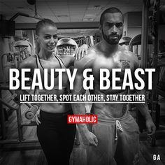 http://chicerman.com gymaaholic: Beauty And Beast Lift together spot each other stay together! Lazar Angelov http://www.gymaholic.co #mensfitness