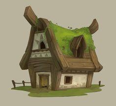 House design, Dylan Eurlings on ArtStation at https://www.artstation.com/artwork/Lg4zA