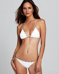burberry piped white string