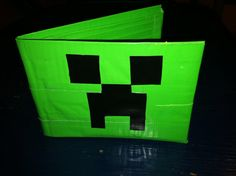 Minecraft duct tape wallets - teen library program