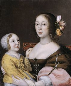 Gilbert Jackson, A Lady of the Grenville Family and Her Son 1640