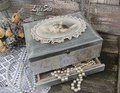 Купить шкатулка миникомодик для украшений Ангелы - бежевый, шкатулка для украшений, шкатулка декупаж, шкатулка деревянная