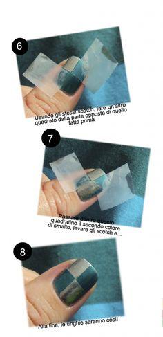 Tutorial Nail Art - Unghie Arlecchino - Tentazione Unghie