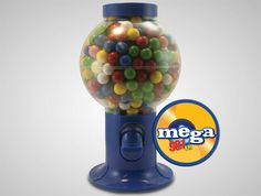Your prospects are sure to remember you when you offer these Gumball Machines filled with your choice of corporate colored chocolate littles or jelly beans!  low as $21.00 #PromotionalProduct #GumballMachine #Custom #Food #Candy