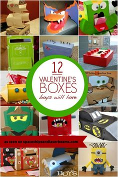 Valentine boxes for boys