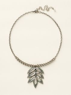 Embellished Leaf Inspired Pendant Necklace in Seaside by Sorrelli - $125.00 (http://www.sorrelli.com/products/NCY24ASSEA)
