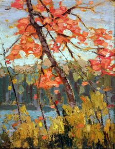 Twisted Maple - by Tom Thomson Group Of Seven Art, Group Of Seven Paintings, Emily Carr, Canadian Painters, Canadian Artists, Landscape Art, Landscape Paintings, Tom Thomson Paintings, Catalogue Raisonne