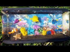 Salt Water Aquarium Tank Polymer Clay Tutorial + Resin