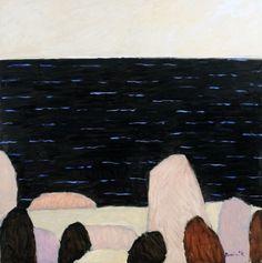 Dominik, Tadeusz - Morze czarne, 2008, plej, płótno, 100 x 100
