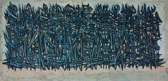 SADEQUAIN| Line of Figures | oil on canvas | 90.1 x 178.4 cm | Christie's