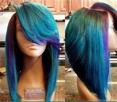 Im loving this! - Best New Hair Styles Dope Hairstyles, Weave Hairstyles, Black Hairstyles, Love Hair, Gorgeous Hair, Amazing Hair, Nail Design Stiletto, Teresa, Natural Hair Styles