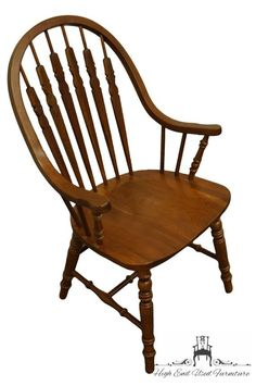 Richardson Brothers Solid Cherry Windsor Bow Back Dining Arm Chair Teak Dining Table, Dining Arm Chair, Dining Room Furniture, Wooden Armchair, Large Truck, Bow Back, Solid Oak, Side Chairs