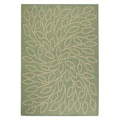 Home Decorators Collection Persimmon Green and Natural 7 ft. 6 In. x 10 ft. 9 In. Area Rug - Model # 4248640680 at The Home Depot $199.20