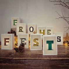 Weihnachtliche Deko // Lichttüten-Set Frohes Fest für die Weihnachtsdeko von good old friends