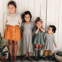 Look at all their little outfits! Cute Kids, Cute Babies, Baby Kids, Little People, Little Ones, Baby Girl Fashion, Kids Fashion, Baby Fever, Beautiful Babies