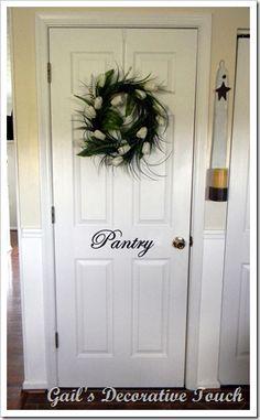 I really like the wreath's on inside doors